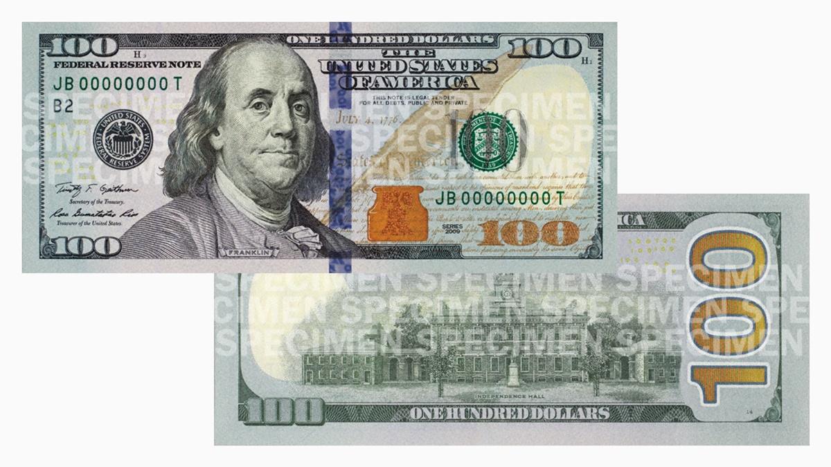 Bankovka 100 dolarů