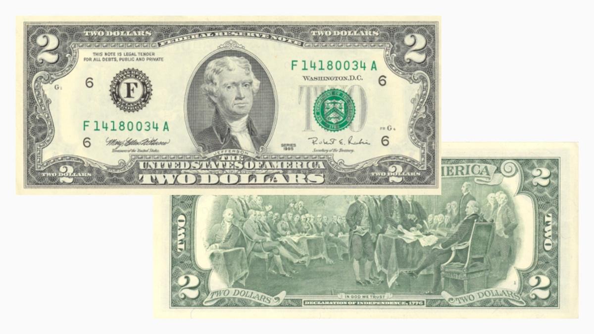 Bankovka 2 dolary