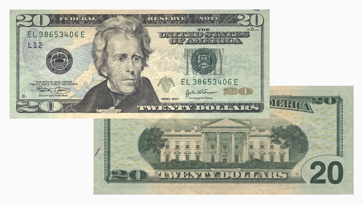 Bankovka 20 dolarů