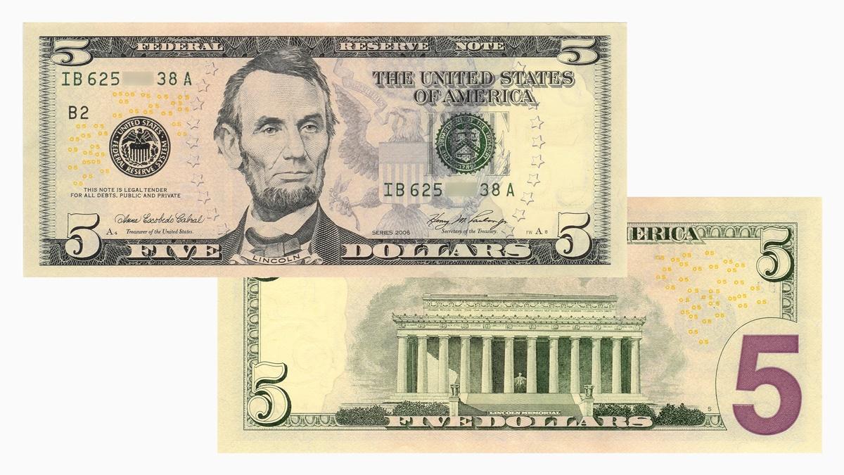 Bankovka 5 dolarů