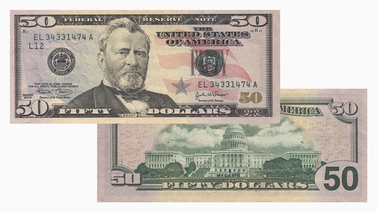 Bankovka 50 dolarů