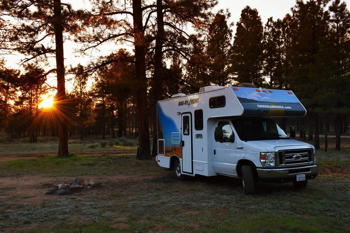 Free camp v lese u Grand Canyonu | © Renata Tunová - Instagram.com/RenyTunova
