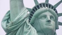 Socha svobody na Liberty Islandu