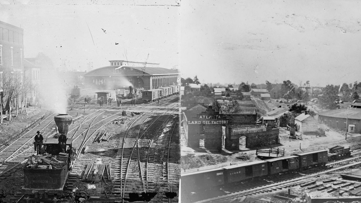 Historická fotka města Atlanta | © Knihovna Kongresu USA