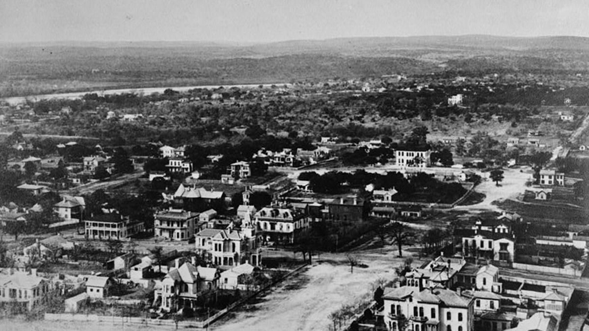 Historická fotka města Austin | © Knihovna Kongresu USA