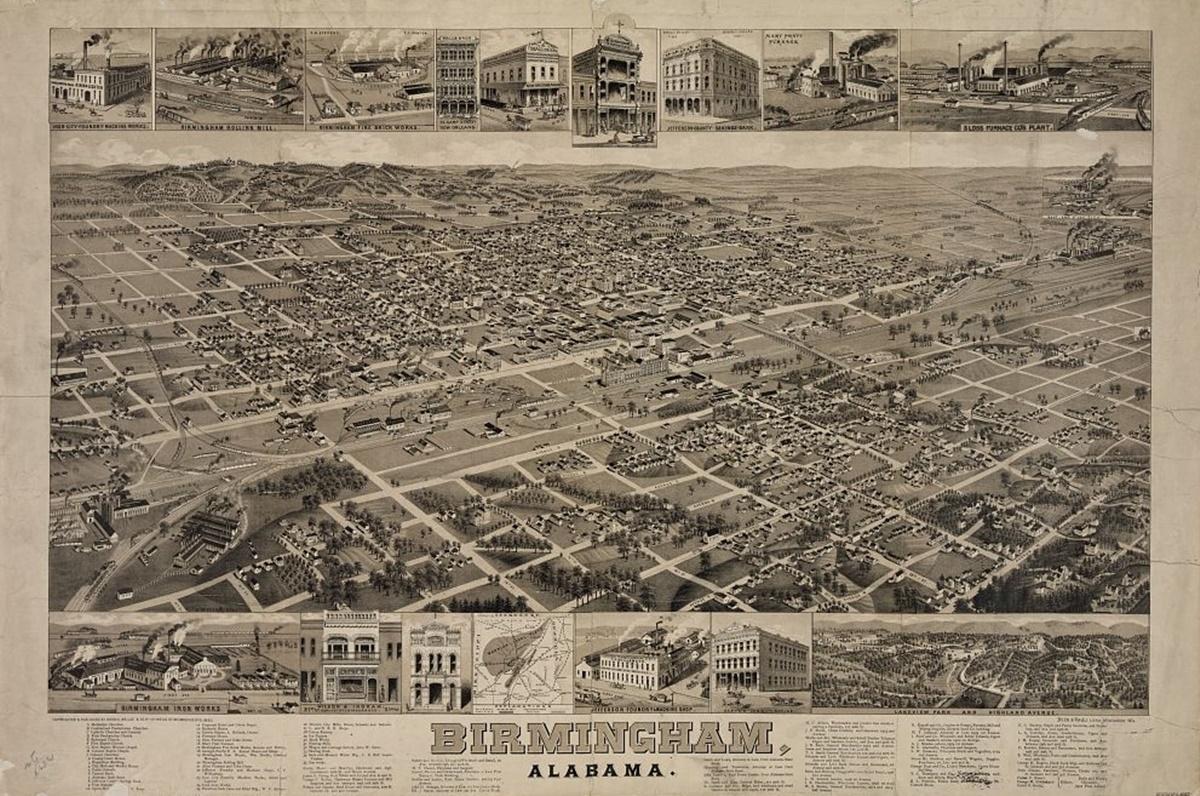 Historická fotka města Birmingham | © Knihovna Kongresu USA