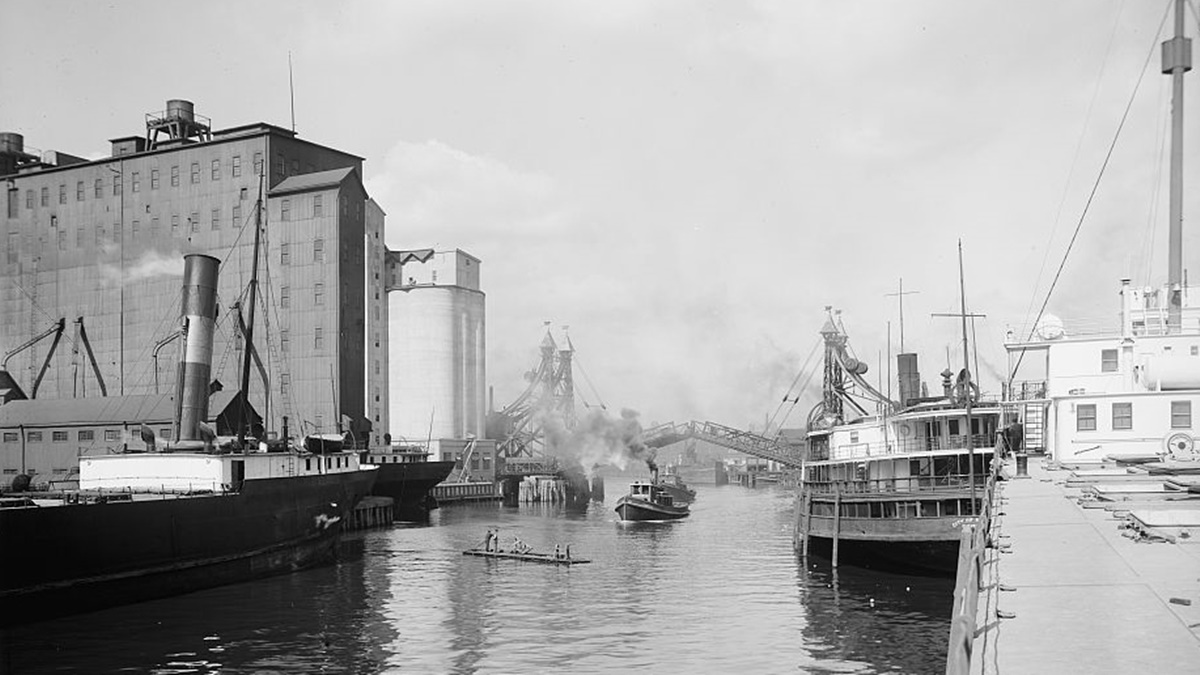 Historická fotka města Buffalo | © Knihovna Kongresu USA