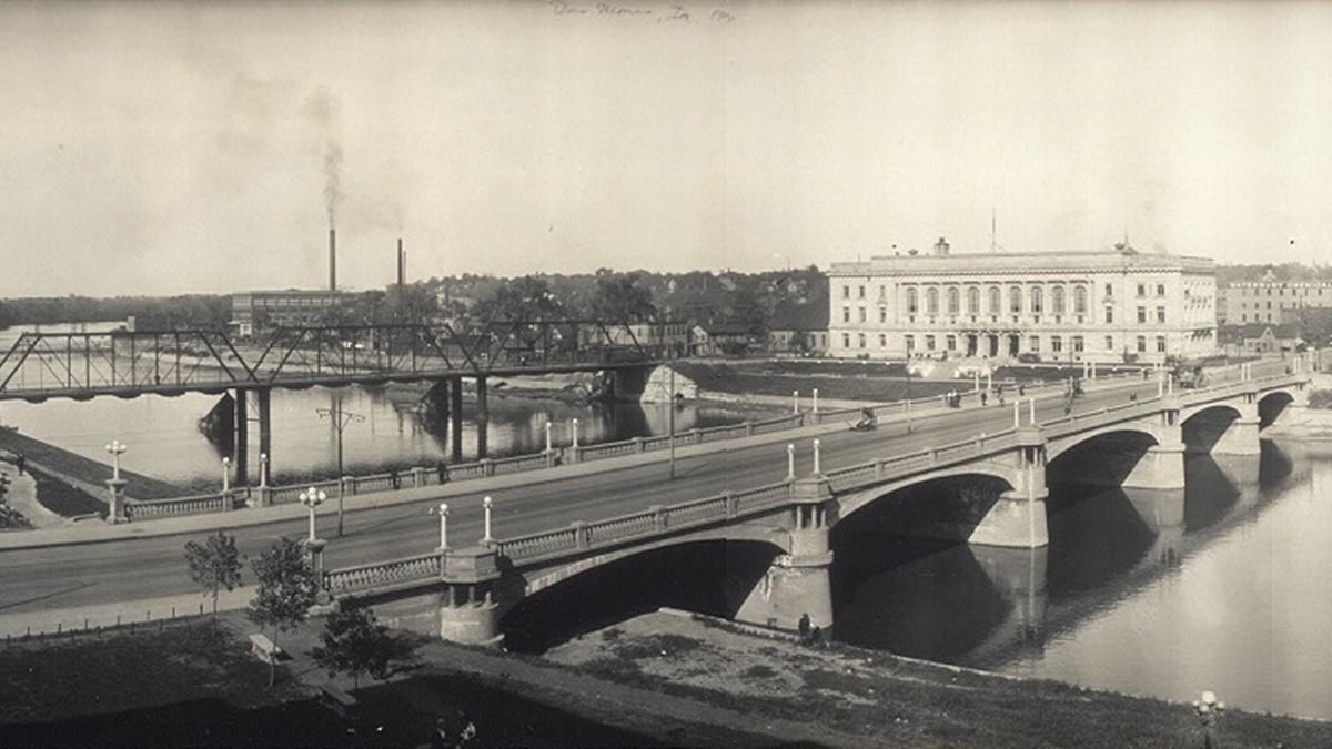 Historická fotka města Des Moines | © Knihovna Kongresu USA