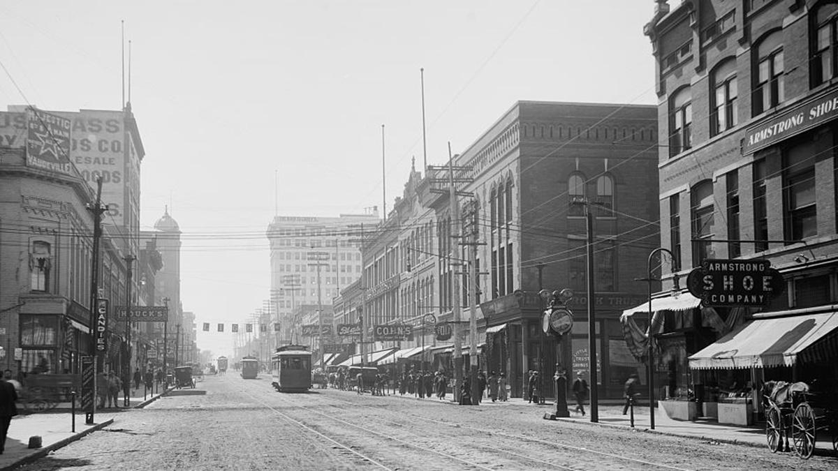 Historická fotka města Little Rock | © Knihovna Kongresu USA