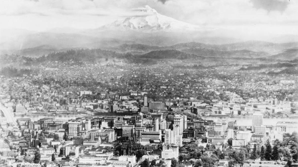 Historická fotka města Portland | © Knihovna Kongresu USA