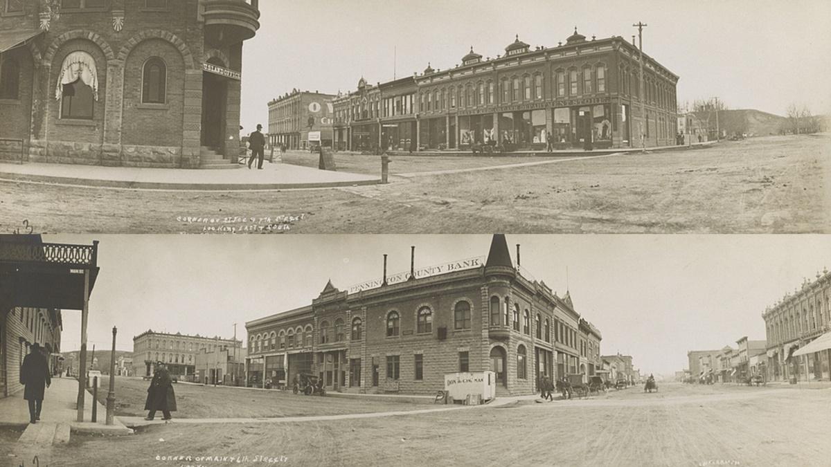 Historická fotka města Rapid City | © Knihovna Kongresu USA