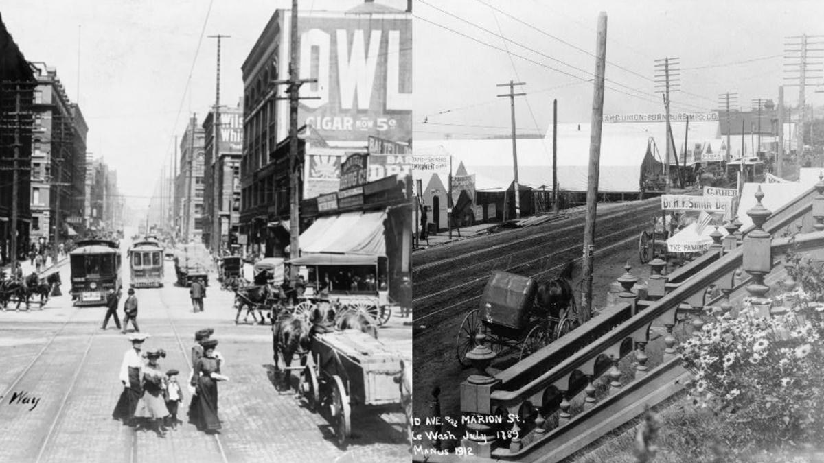 Historická fotka města Seattle | © Knihovna Kongresu USA