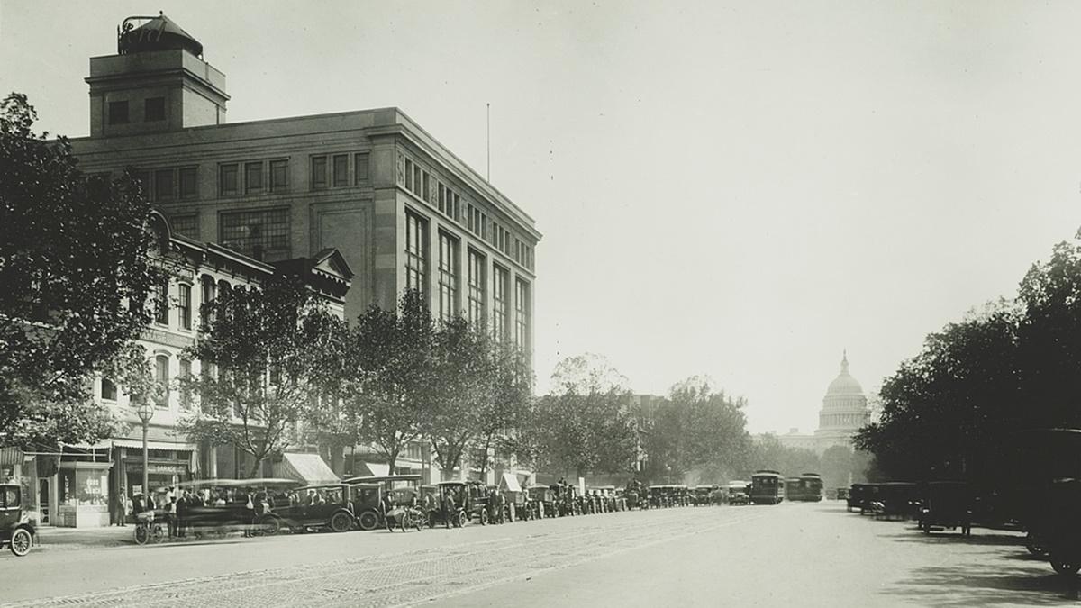 Historická fotka města Washington D | © Knihovna Kongresu USA