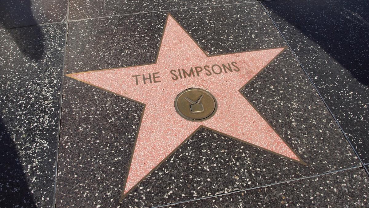 Hvězda Simpsonových na chodníku slávy | © Petr Novák