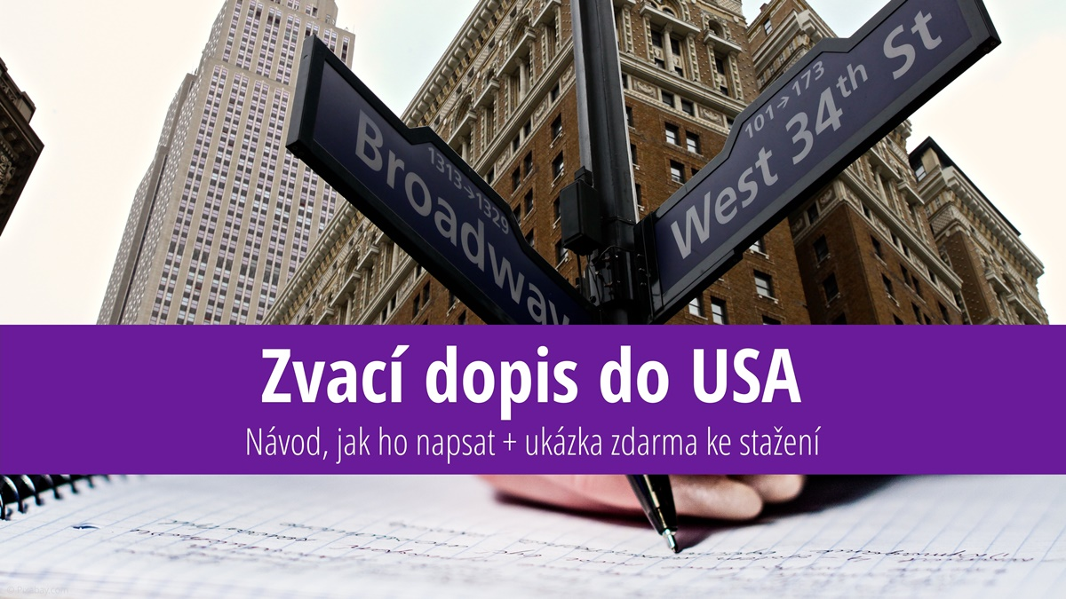 Zvací dopis do USA