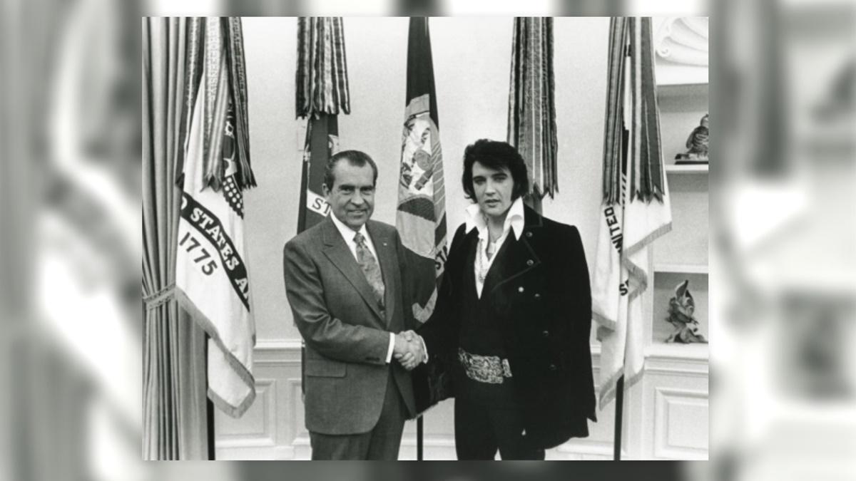 Richard Nixon a Elvis Presley | © Whitehouse.gov