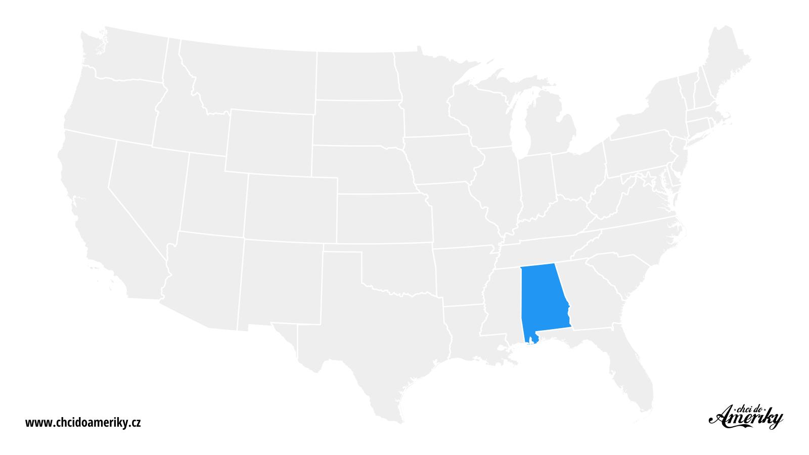 Mapa Alabamy / Kde je Alabama?