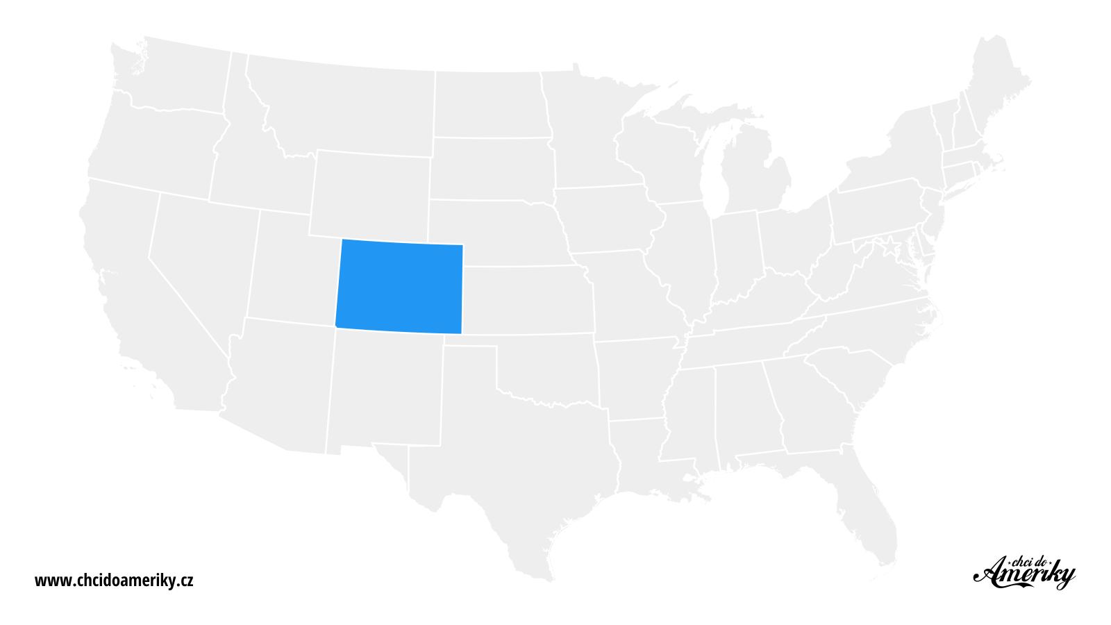 Mapa Colorada / Kde je Colorado?