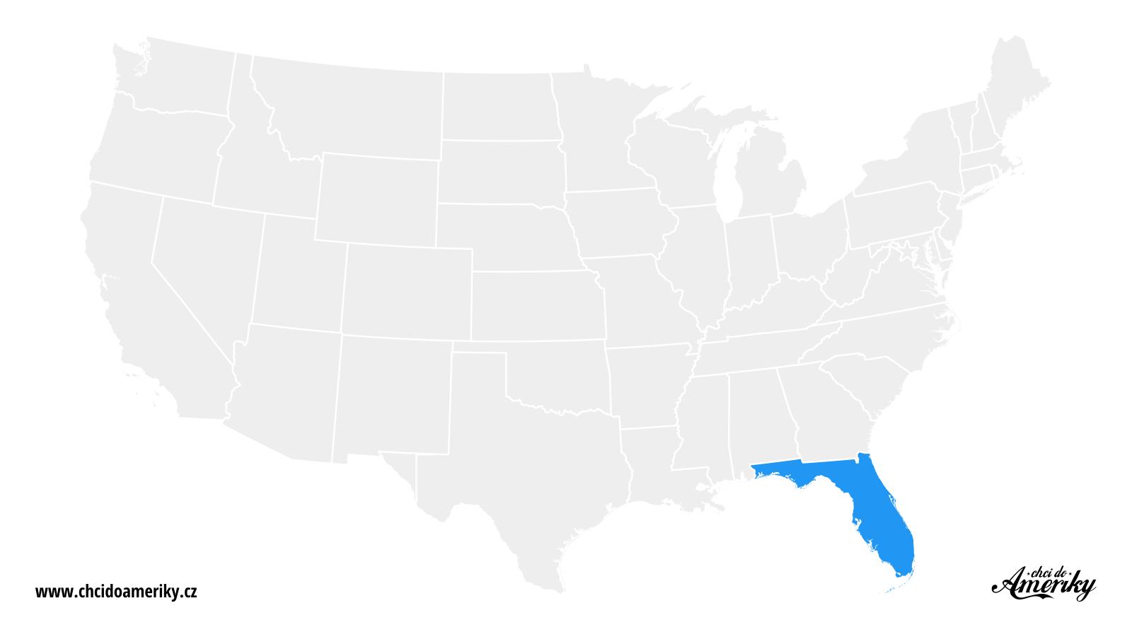 Mapa Floridy / Kde je Florida?