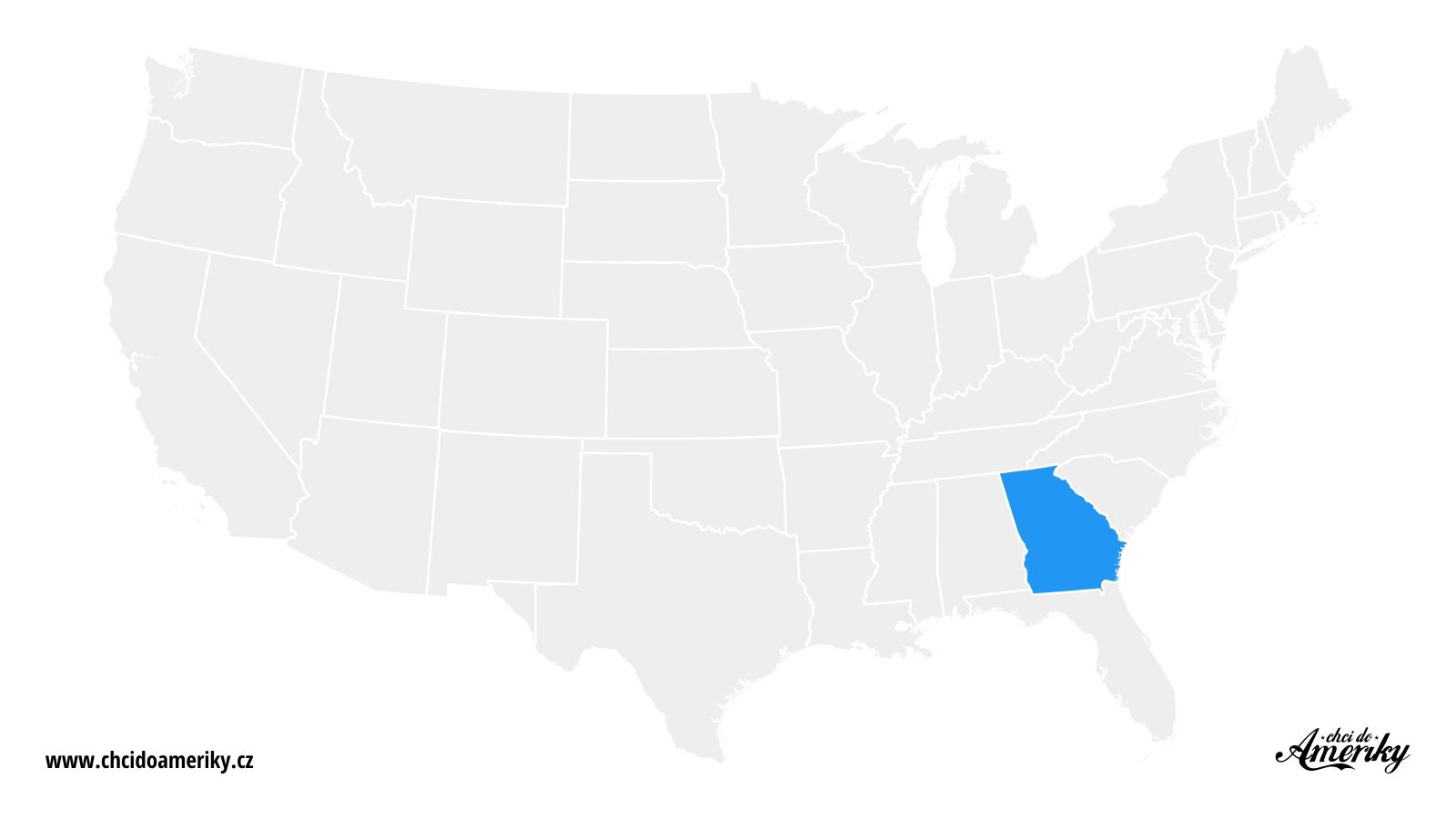 Mapa Georgie / Kde je Georgia?