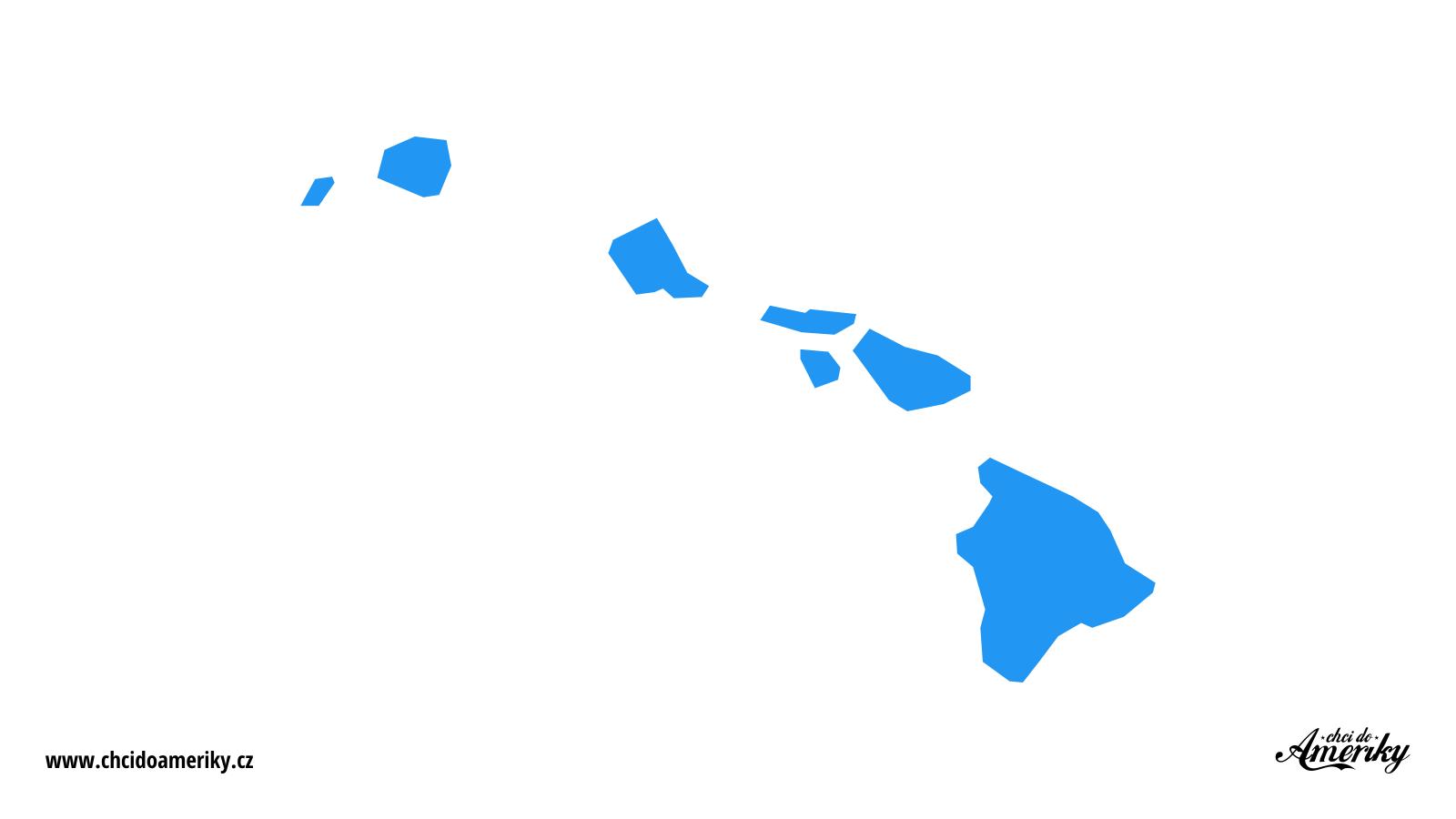 Mapa Havaje / Kde je Havaj?