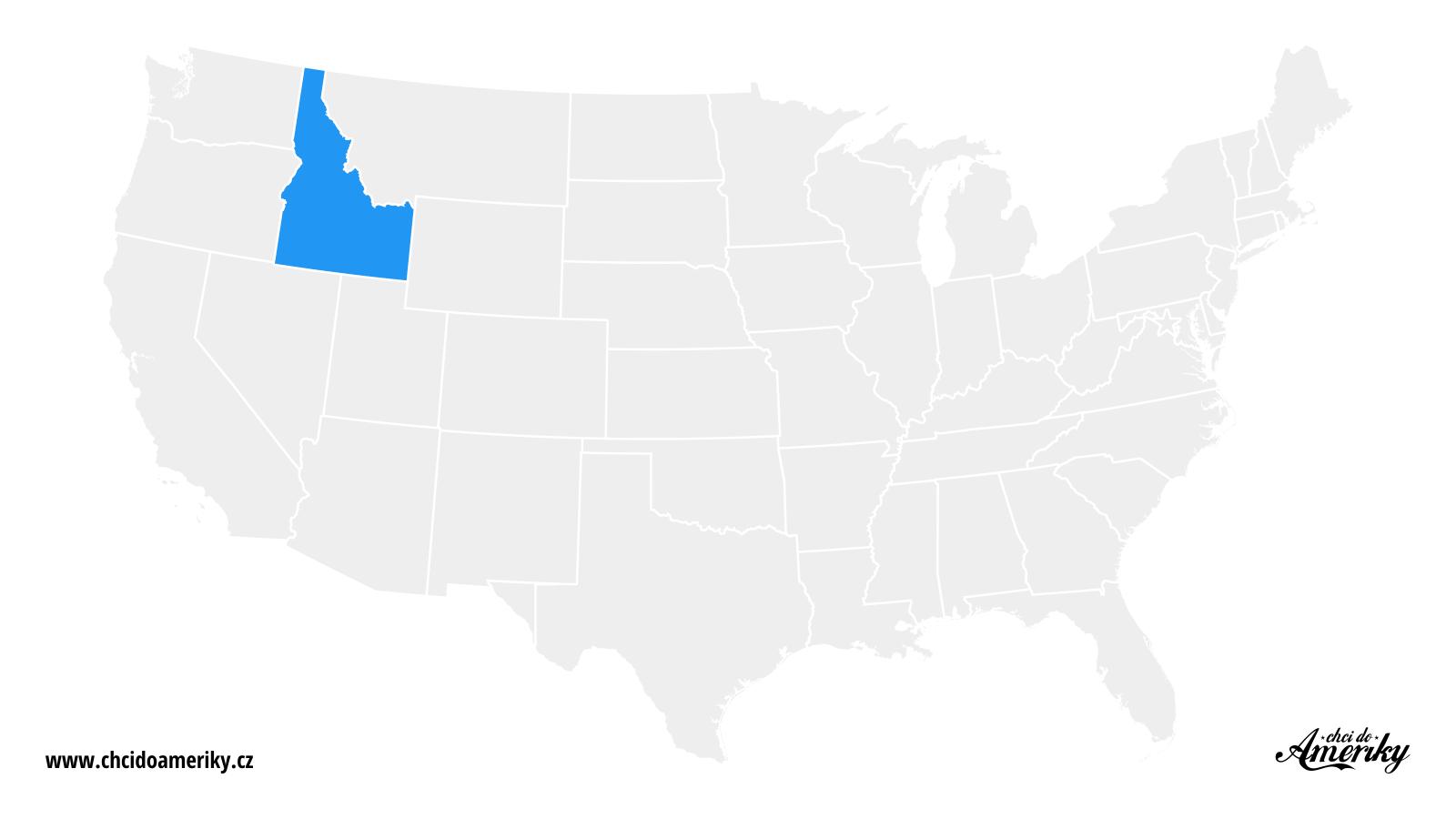 Mapa Idaho / Kde je Idaho?