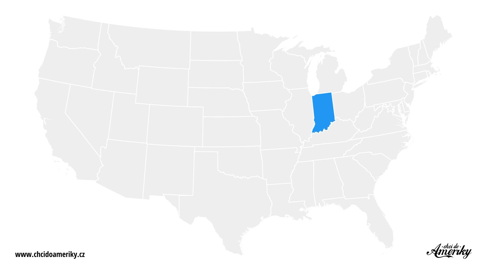 Mapa Indiany / Kde je Indiana?