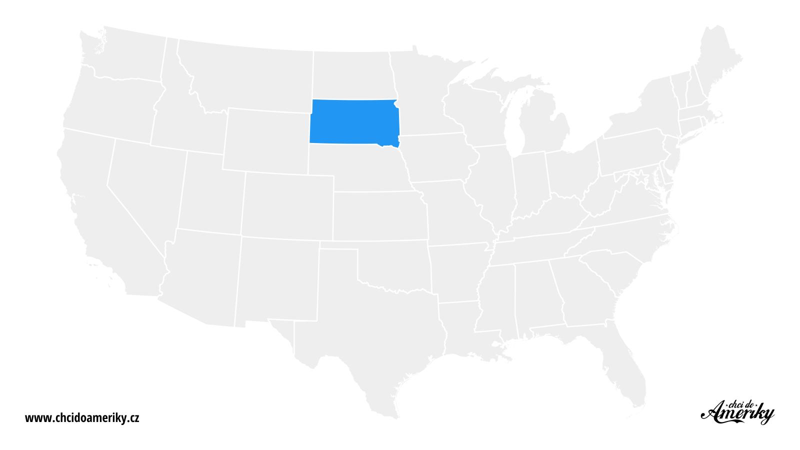 Mapa Jižní Dakoty / Kde je Jižní Dakota?