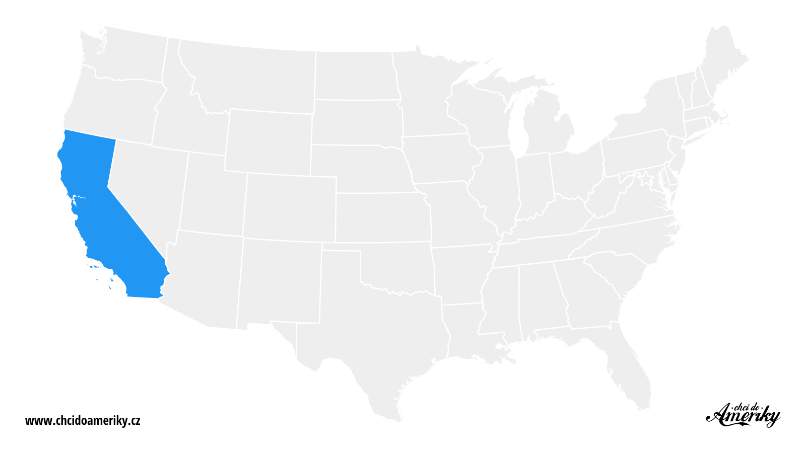 Mapa Kalifornie / Kde je Kalifornie?