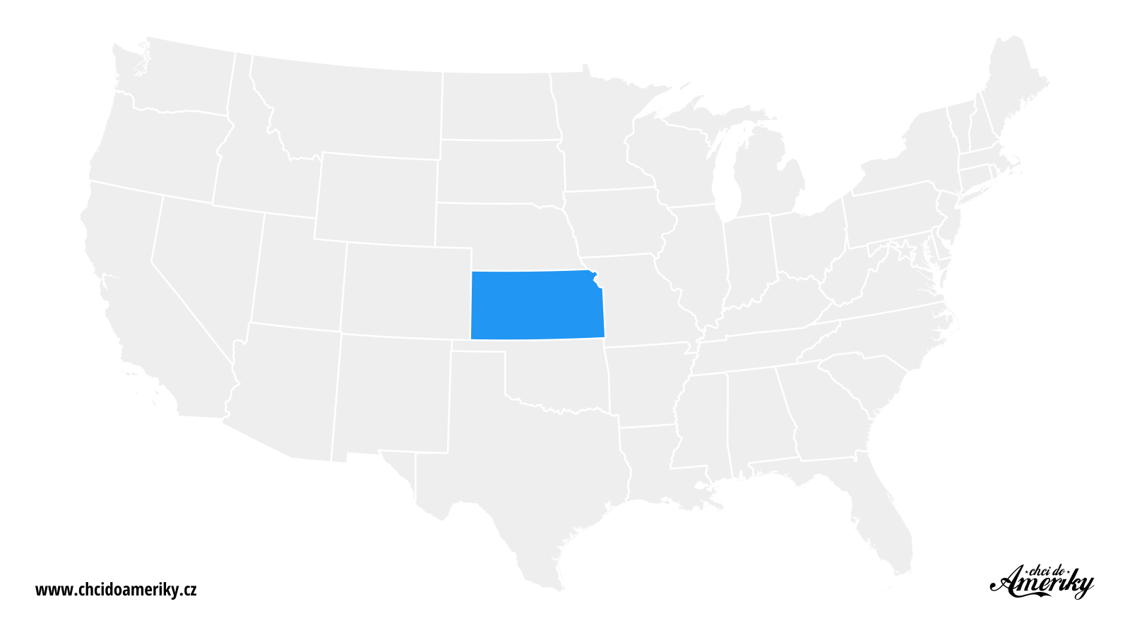 Mapa Kansasu / Kde je Kansas?