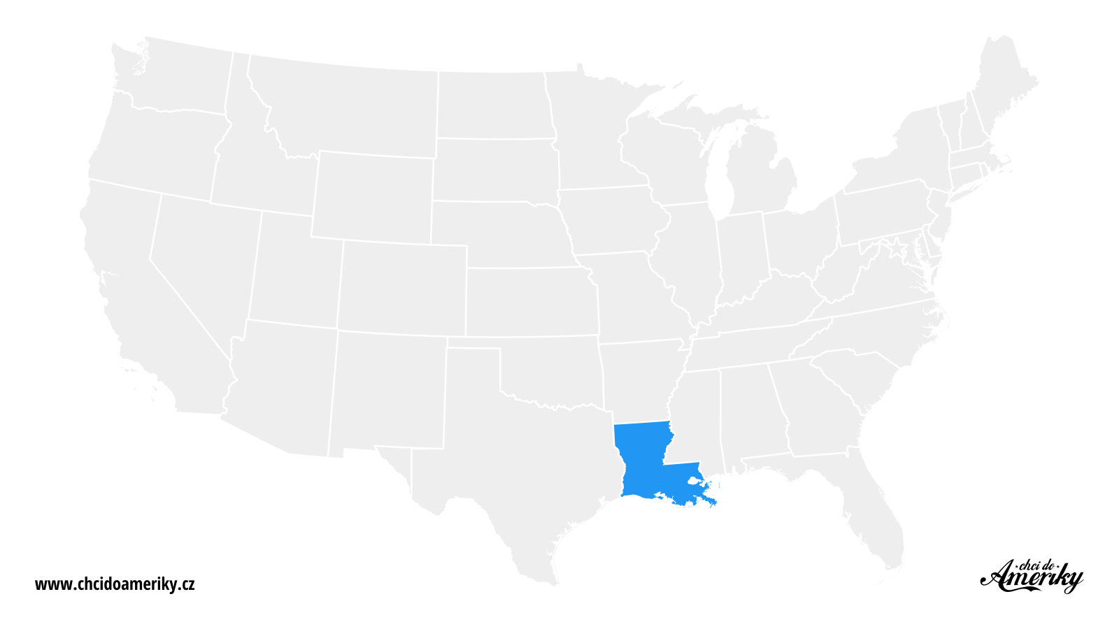 Mapa Louisiany / Kde je Louisiana?