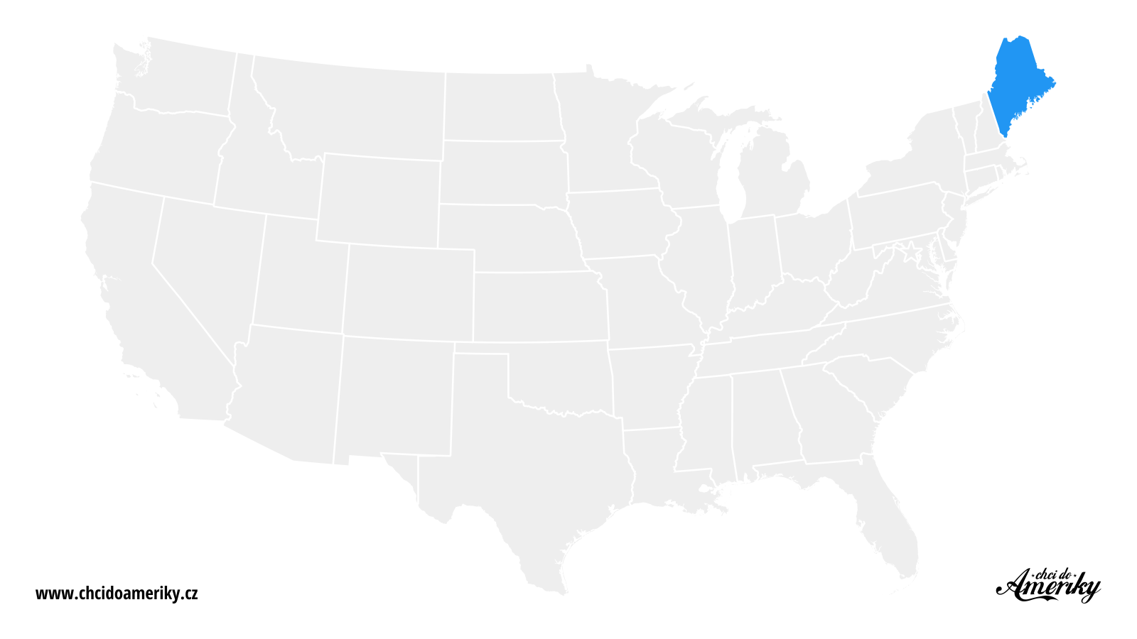 Mapa Maine / Kde je Maine?