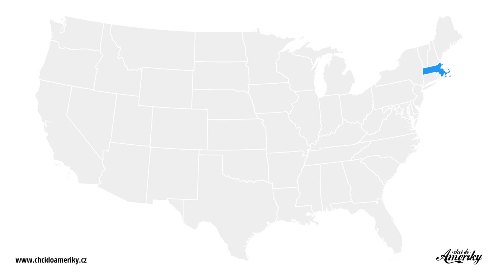 Mapa Massachusetts / Kde je Massachusetts?