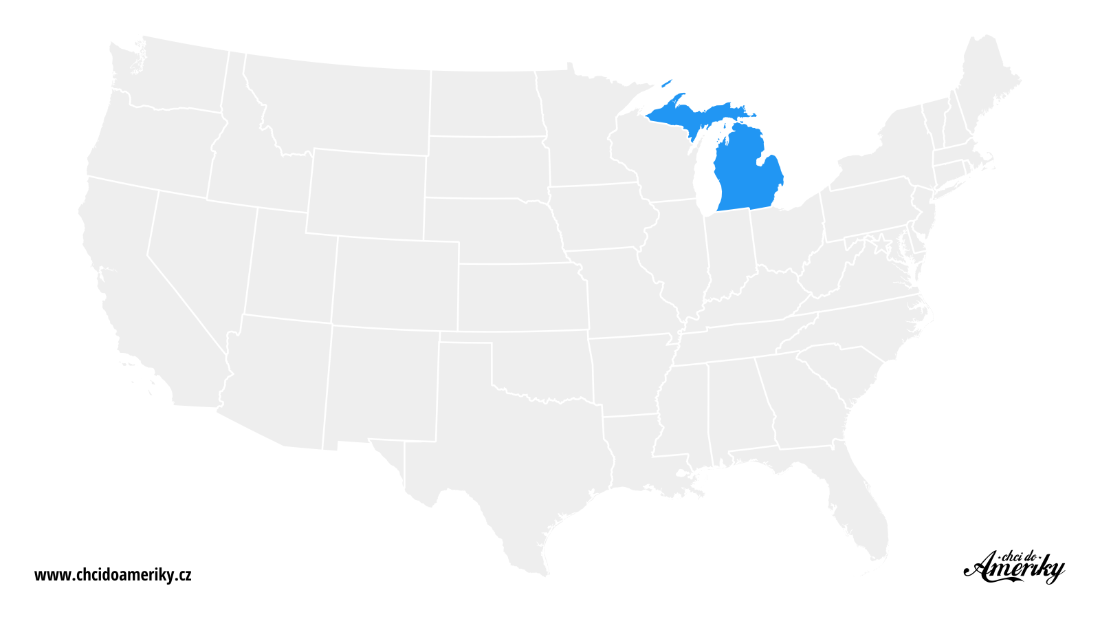 Mapa Michiganu / Kde je Michigan?