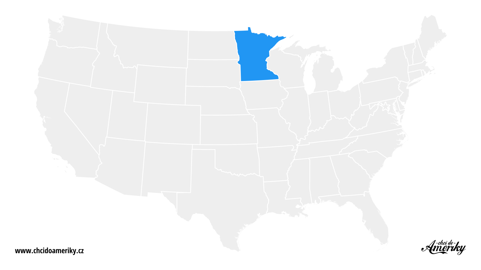 Mapa Minnesoty / Kde je Minnesota?