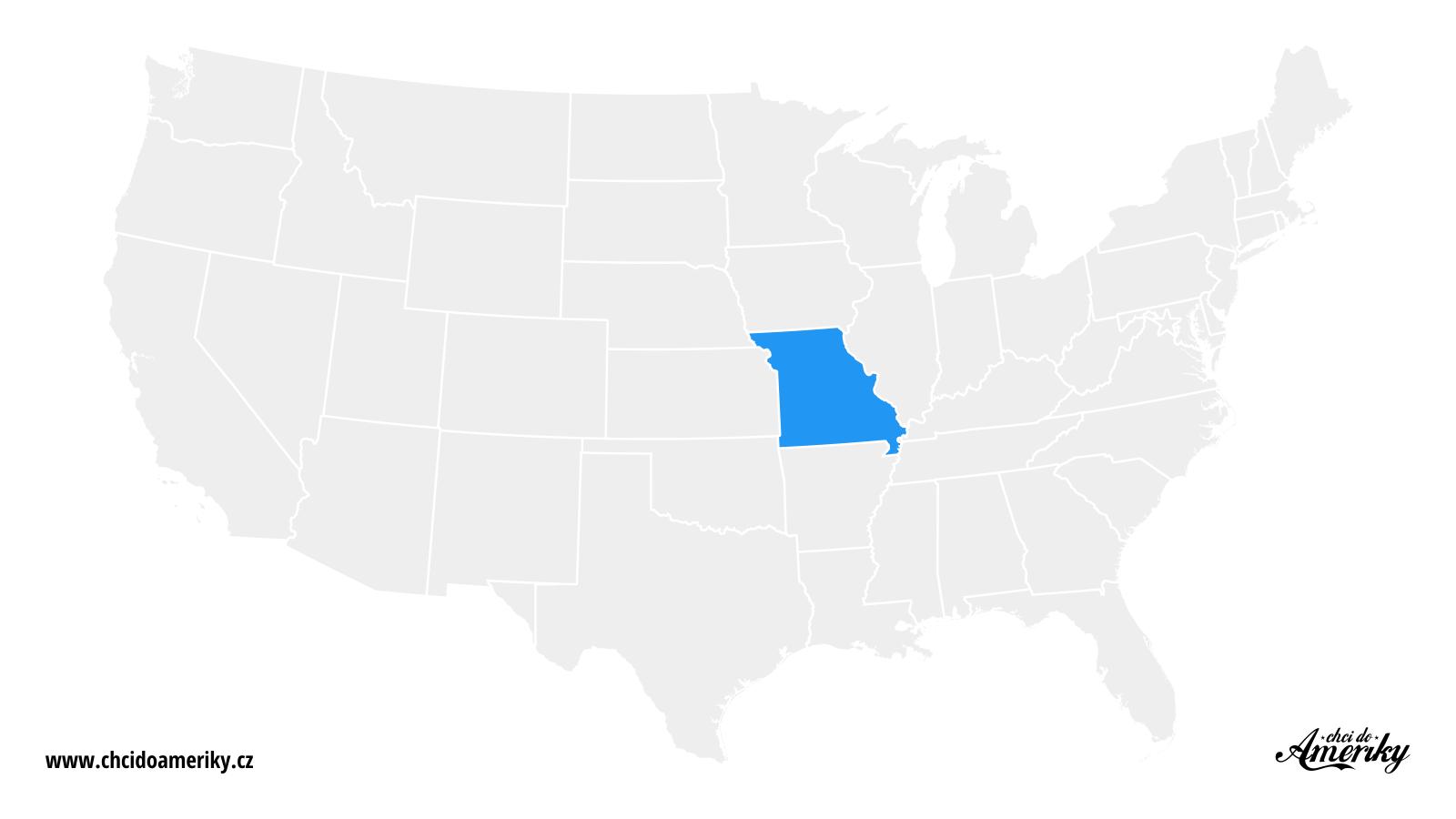 Mapa Missouri / Kde je Missouri?