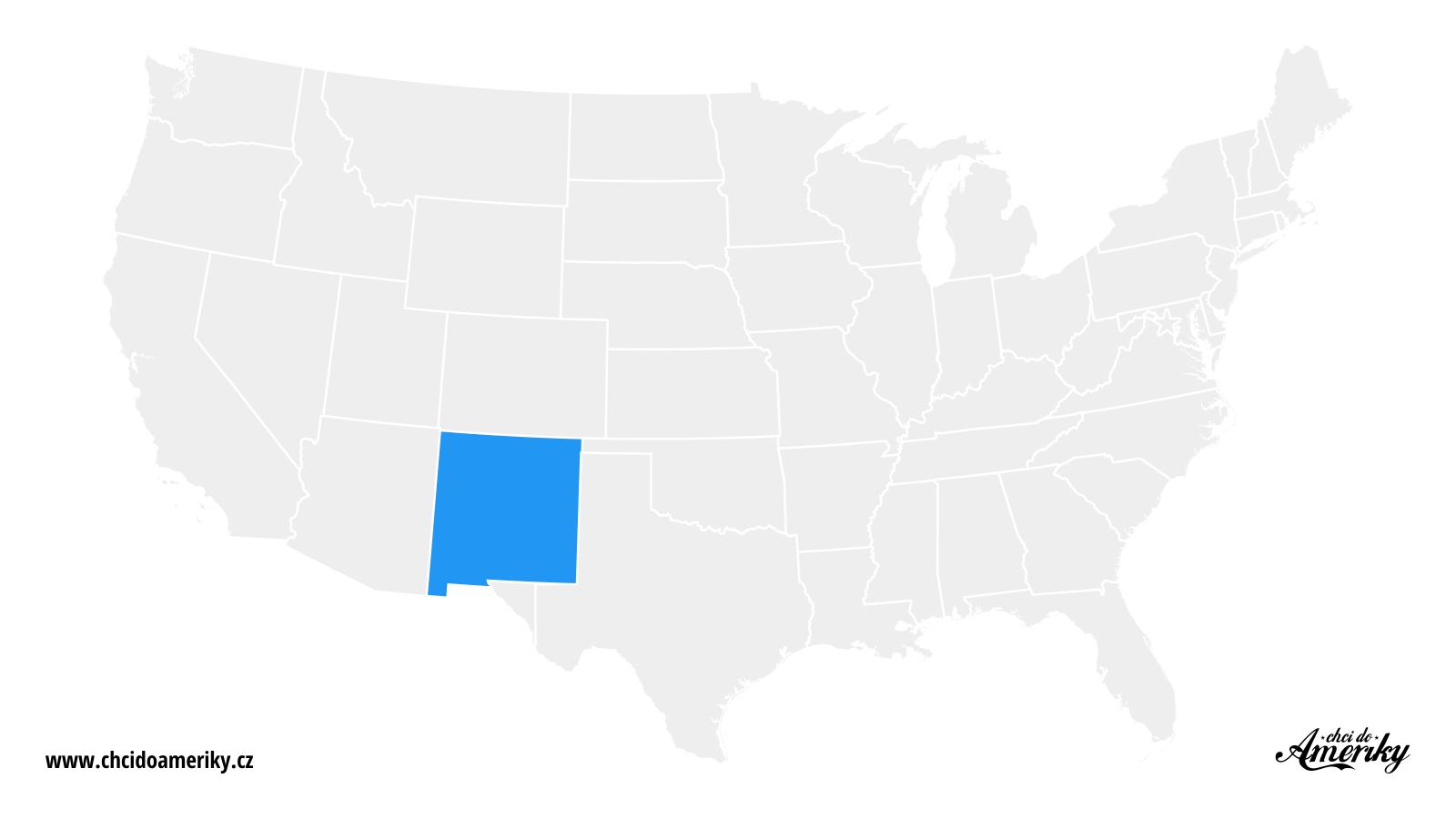 Mapa Nového Mexika / Kde je Nové Mexiko?