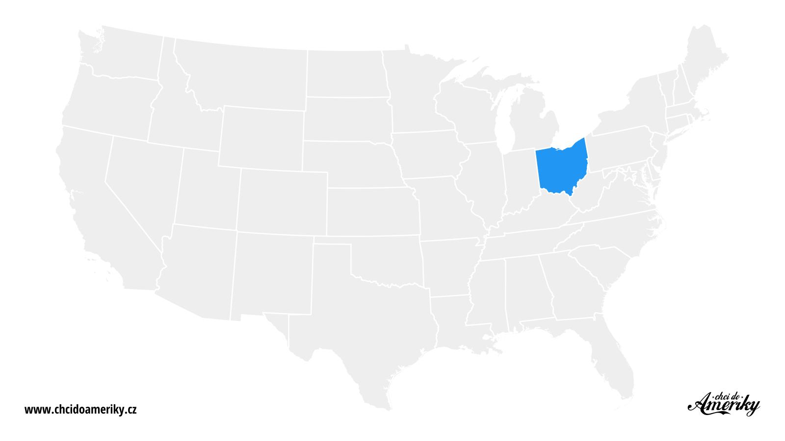 Mapa Ohia / Kde je Ohio?