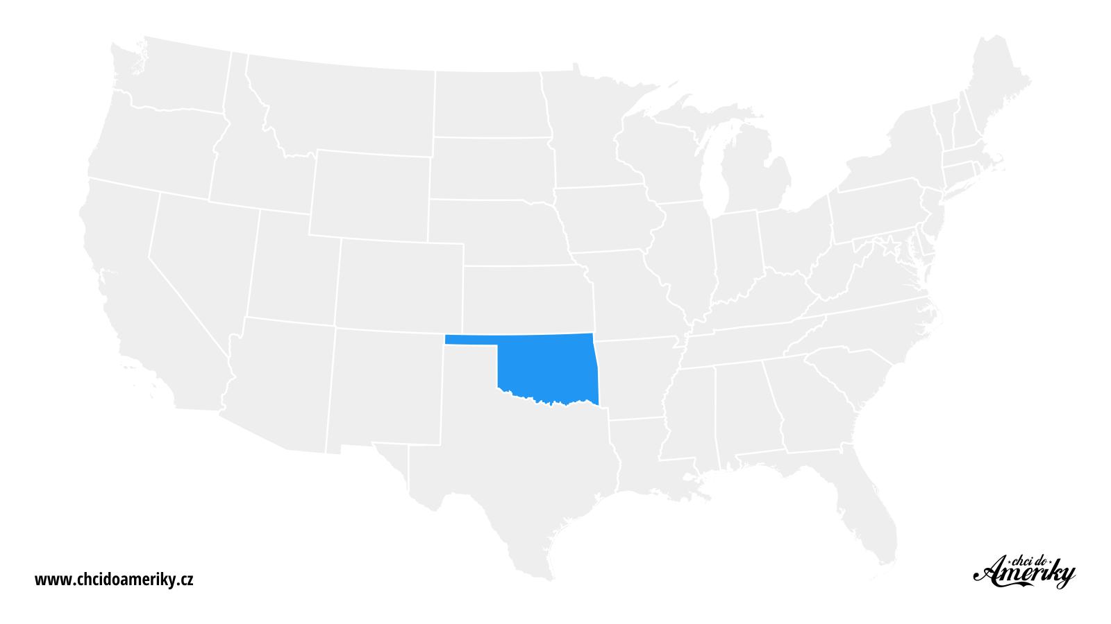 Mapa Oklahomy / Kde je Oklahoma?