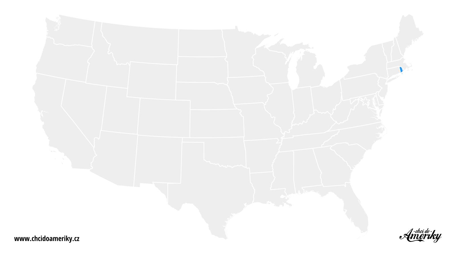 Mapa Rhode Islandu / Kde je Rhode Island?