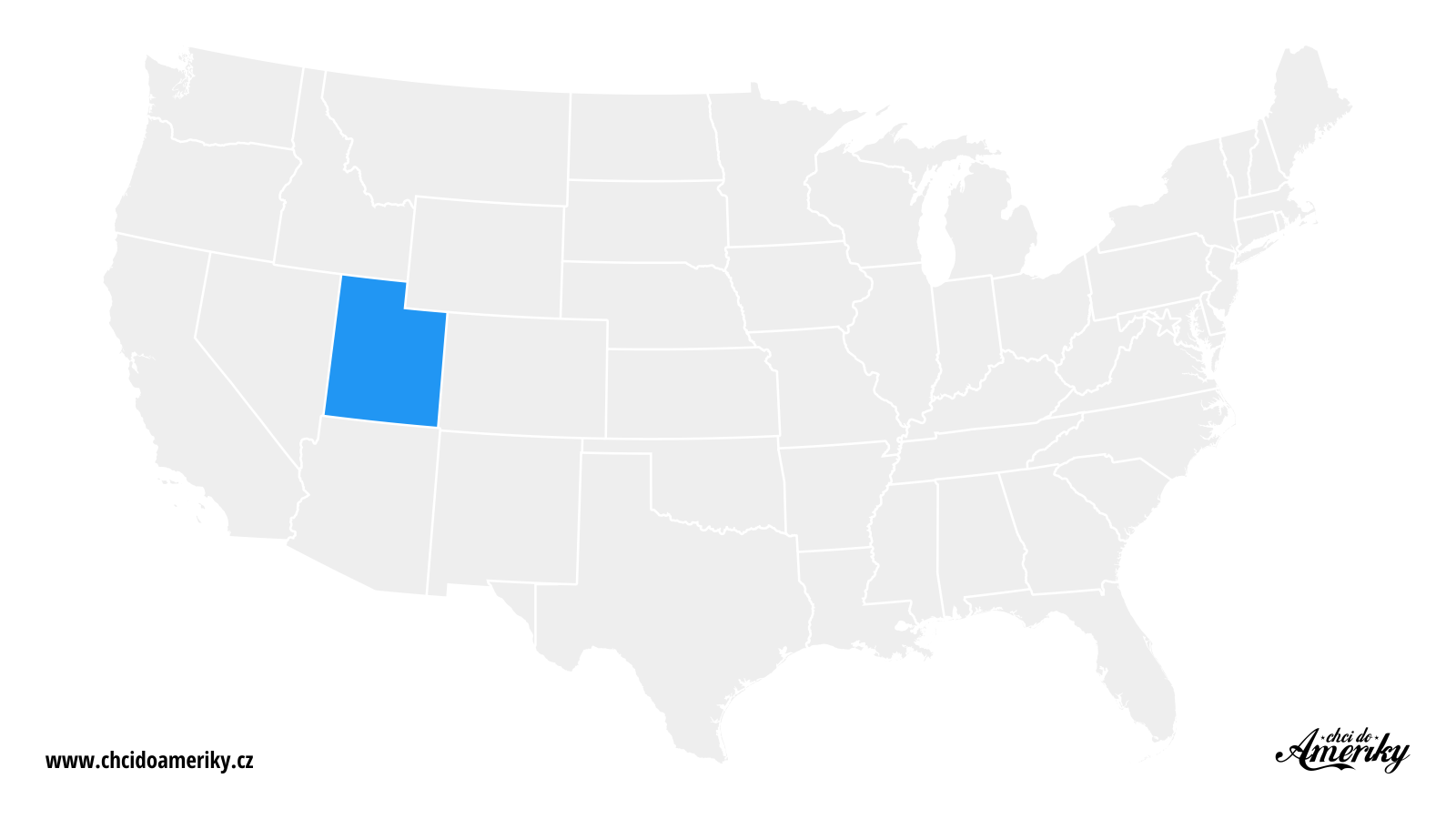 Mapa Utahu / Kde je Utah?