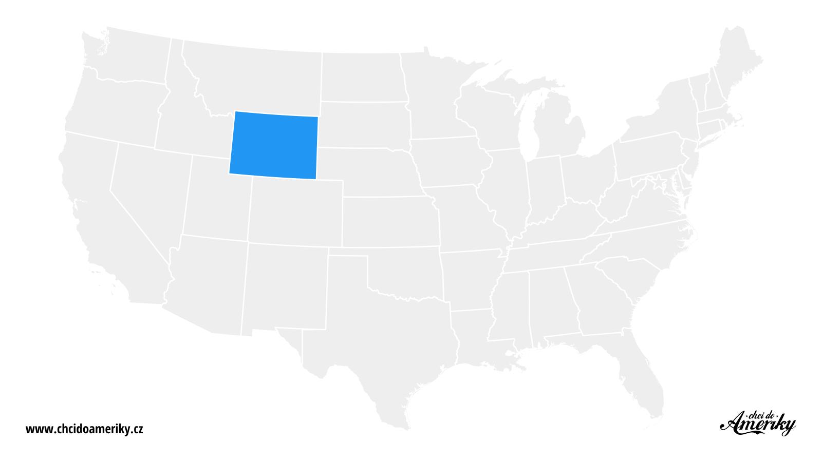 Mapa Wyomingu / Kde je Wyoming?