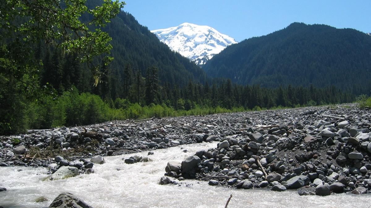 Řeka Carbon River, Národní park Mount Rainier | © lougw