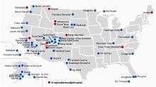 Národní parky USA: Přehled, informace, mapa avstupné