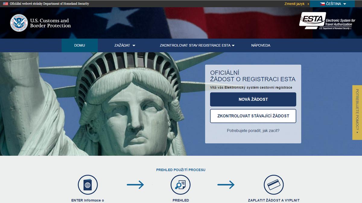 Oficiální stránky ESTA