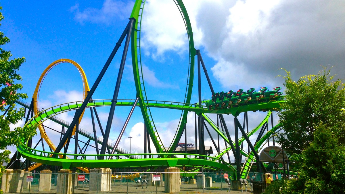 Horská dráha Green Lantern v Six Flags Great Adventure | © Sarah_Ackerman