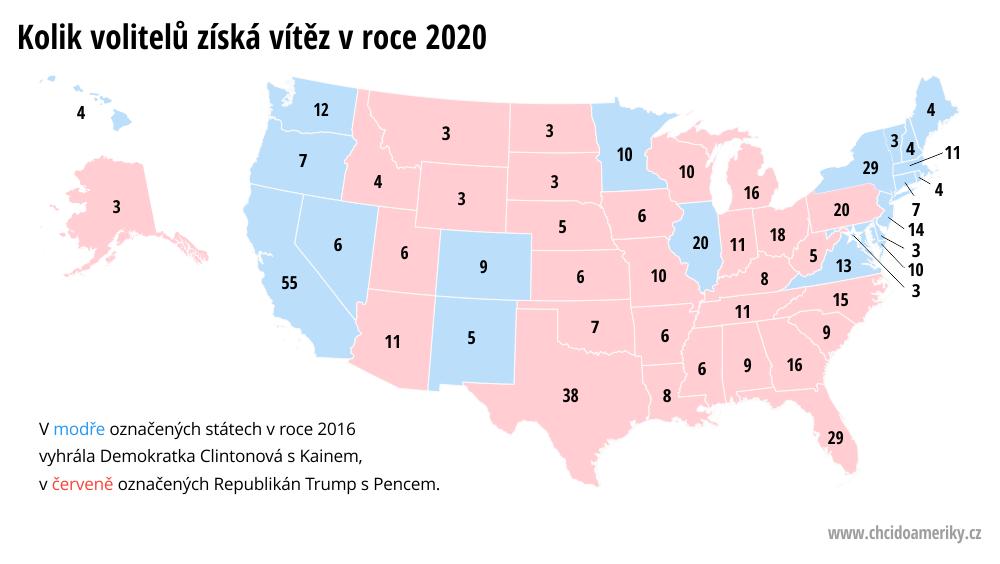 Volitelé v jednotlivých státech USA | © Petr Novák