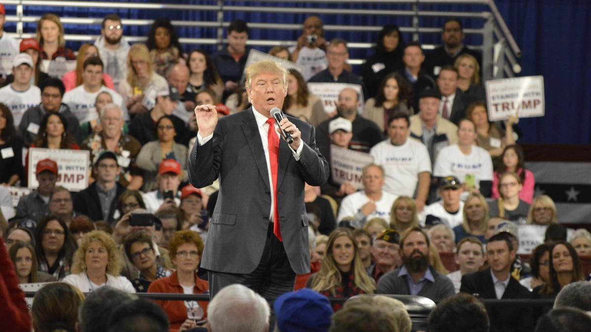 Donald Trump na předvolební kampani v Des Moines v Iowě   © Alex Hanson/Flickr.com