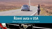 Řízení auta adopravní předpisy vUSA