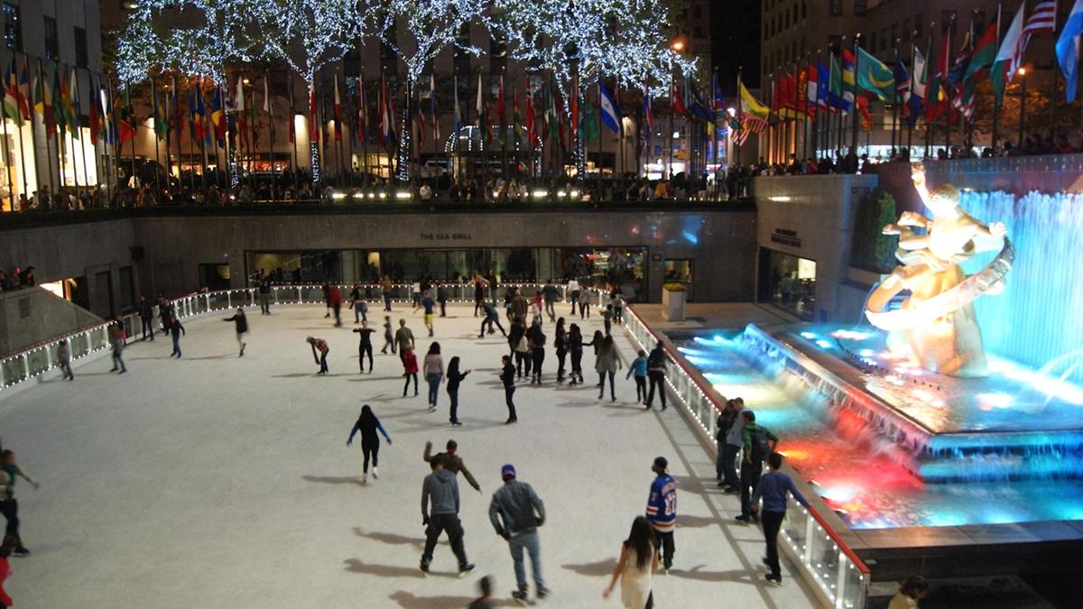 Ledové kluziště u Rockefellerova centra | © quique_fs